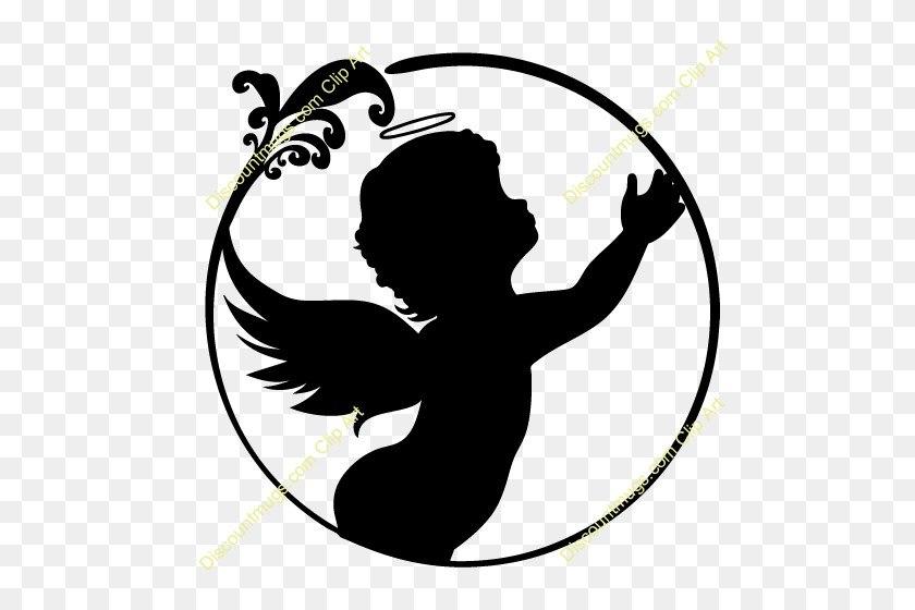Download Angels Silhouette Clipart Silhouette Silhouette - Angel Wings Clipart Free