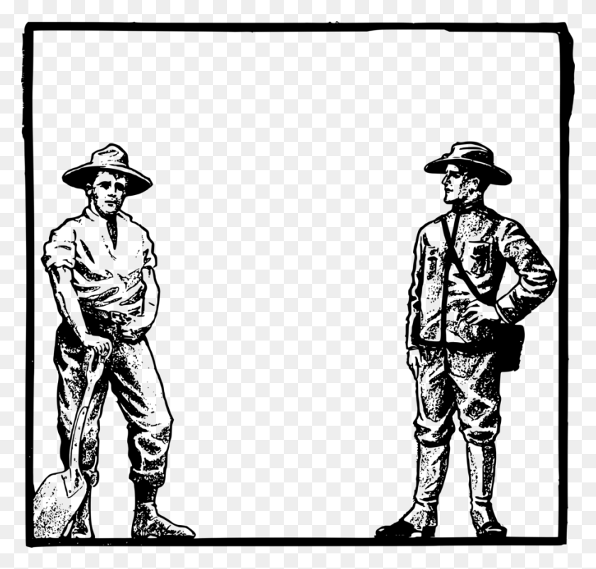 Download Art Frame Farmer Clipart Clip Art Illustration, Farmer - Sun Hat Clipart
