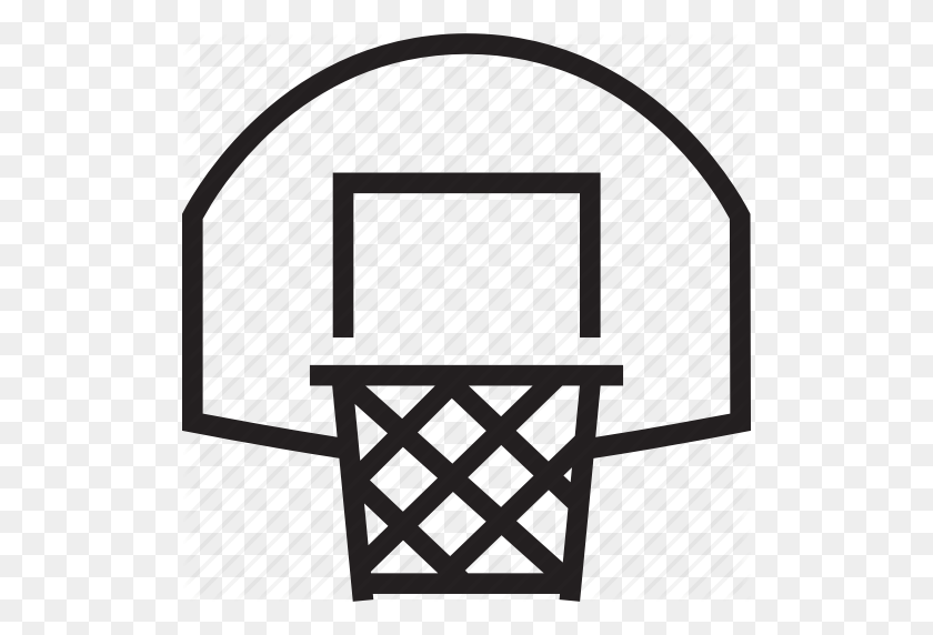 Download Basketball Net Icon Png Clipart Canestro Backboard - Basketball And Net Clipart