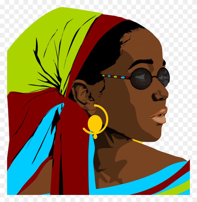 900x922 Download Black Woman Clipart Black Clip Art Woman, Superhero - Super Hero Clip Art