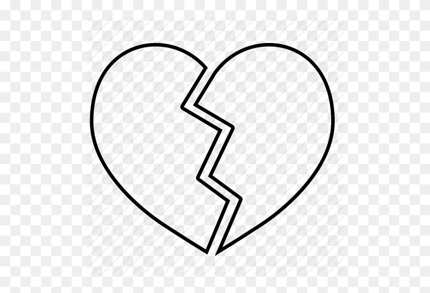 Download Broken Heart Outline Clipart Broken Heart Clip Art - Broken Heart Clipart Black And White