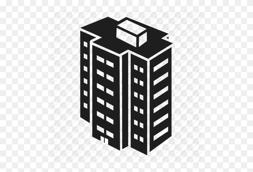 Download Building Complex Icon Clipart Apartment Building Computer - Apartment Building Clipart