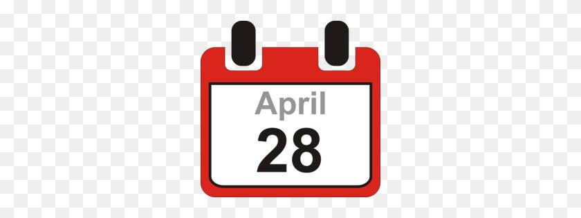 Download Calendar Clipart Calendar Date Clip Art Calendar, Red - April Images Clipart