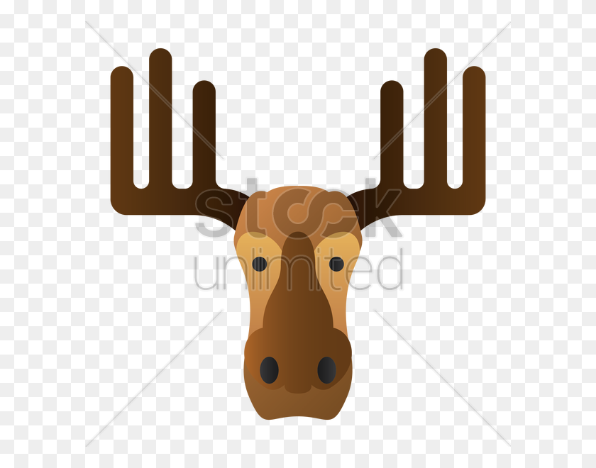 Download Cartoon Clipart Reindeer Giraffe Reindeer, Giraffe - Moose Head Clipart
