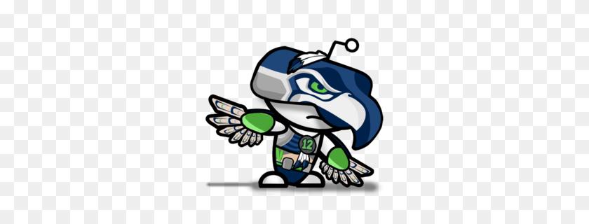 Download Cartoon Seahawk Logo Clipart Seattle Seahawks Nfl Chicago - Seattle Seahawks Logo PNG