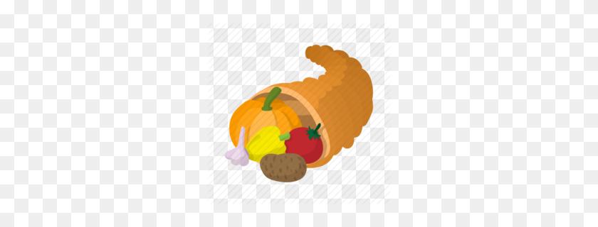 Download Cartoon Thanksgiving Gourd Clipart Thanksgiving Cornucopia - Thanksgiving PNG