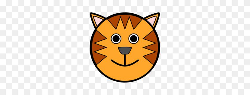 Download Cartoon Tiger Face Clipart Tiger Clip Art Tiger - Tiger Head PNG