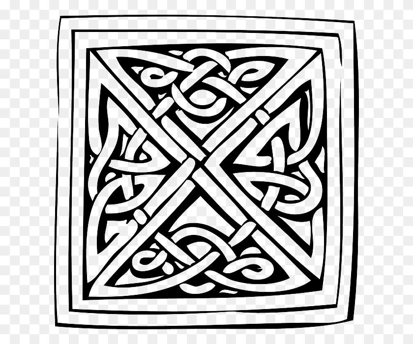 Download Celtic Knots Coloring Book Clipart Celtic Knot Ornament - Celtic Cross Clipart