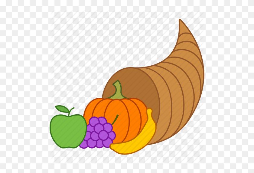 Download Cornucopia Clipart Cornucopia Clip Art Thanksgiving - Pumpkin PNG Clipart
