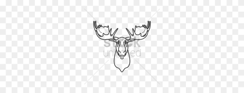 Download Design Clipart Reindeer Moose Reindeer, Deer, Design - Moose Head Clipart