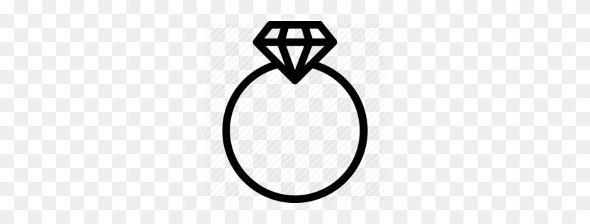 Download Diamond Ring Icon Clipart Wedding Ring Clip Art Ring - Diamond Black And White Clipart