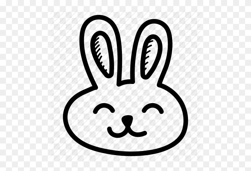 Download Easter Bunny Emoji Clipart Easter Bunny Domestic Rabbit - Easter Bunny Face Clipart
