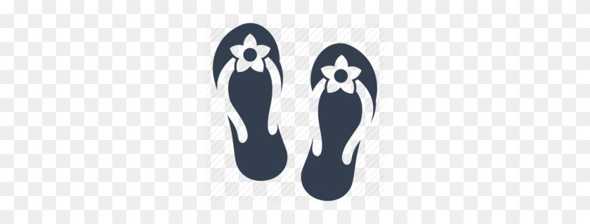 260x260 Download Flip Flops Clipart Shoe Flip Flops Clip Art - Flip Flop Clipart