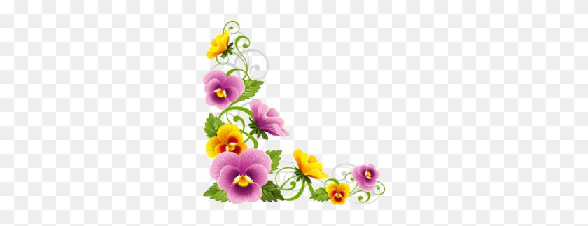 Download Flower Corner Border Png Clipart Borders And Frames Clip Art - Corner Border Clipart
