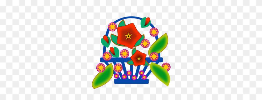 Download Flowers In Basket Clipart Basket Clip Art Basket - Knitting Clipart