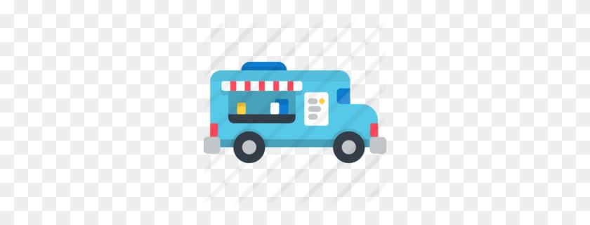 Download Food Truck Flat Icon Clipart Food Truck Clip Art - Classic Truck Clipart