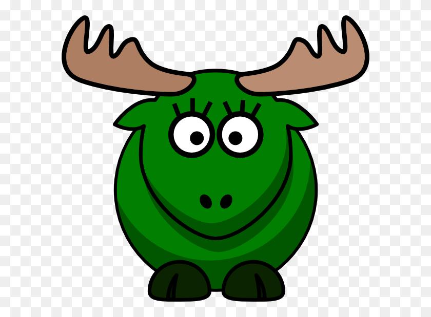 600x559 Download Girl Green Moose Clipart - Moose PNG