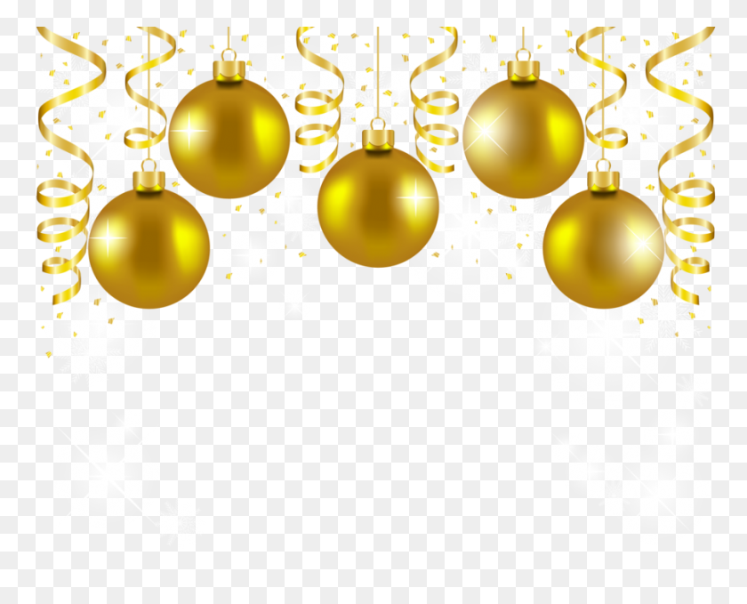 900x715 Download Gold Christmas Balls Png Clipart Christmas Ornament Clip - Free Christmas Eve Clipart