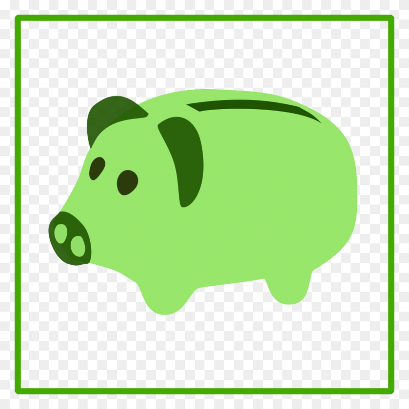 Download Green Economy Icon Clipart Computer Icons Economy Clip - Pig Image Clipart
