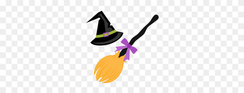 Download Halloween Broom Clipart Broom Witchcraft Clip Art - Wicked Clipart