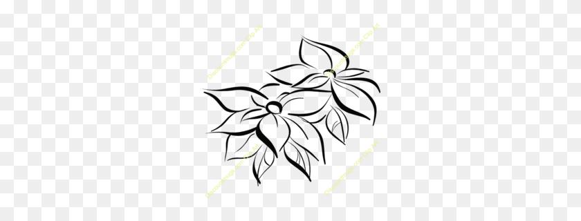 Download Holiday Aisle Poinsettia And Bird Decorative Christmas - Poinsettia Clip Art