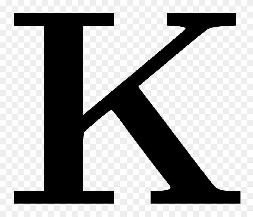 Download Letter K Png Clipart Letter Clip Art Letter, Alphabet - Square Clipart Black And White