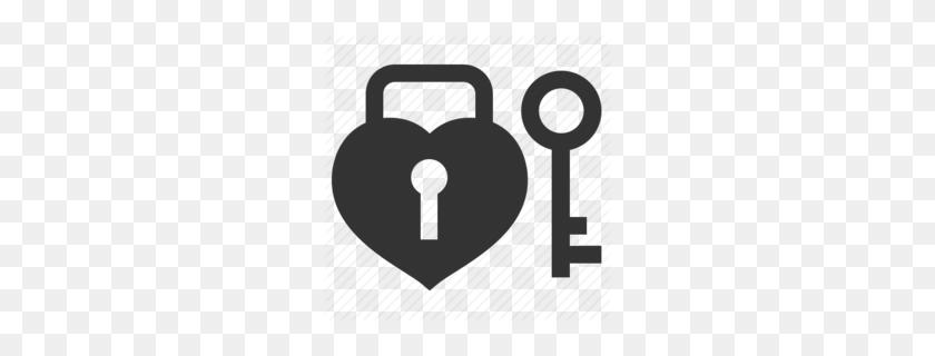 Download Lock And Key Heart Logo Clipart Lock Key Clip Art - Key Clipart