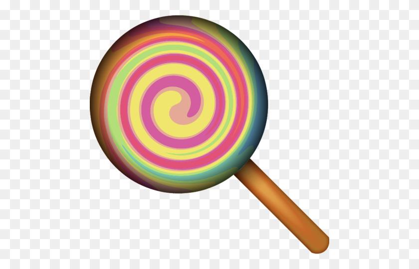 480x480 Download Lollipop Candy Emoji Emoji Island - Lollipop PNG
