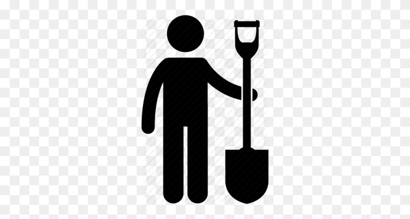 Download Man With A Shovel Clipart Tradesman Shovel Tool - Shovel Clipart Black And White