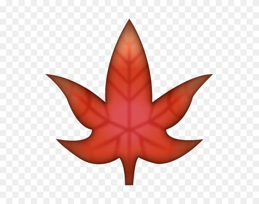 582x600 Download Maple Leaf Emoji Image In Png Emoji Island - Canadian Leaf PNG