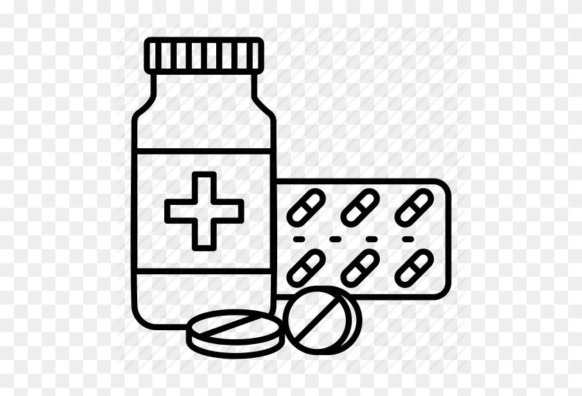 Download Medicine Bottle Outline Clipart Pharmaceutical Drug - Medical Clipart Black And White