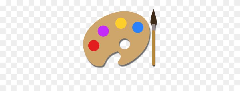 260x260 Download Paint Palette Png Clipart Palette Clip Art Paint, Nose - Art Pallet Clipart