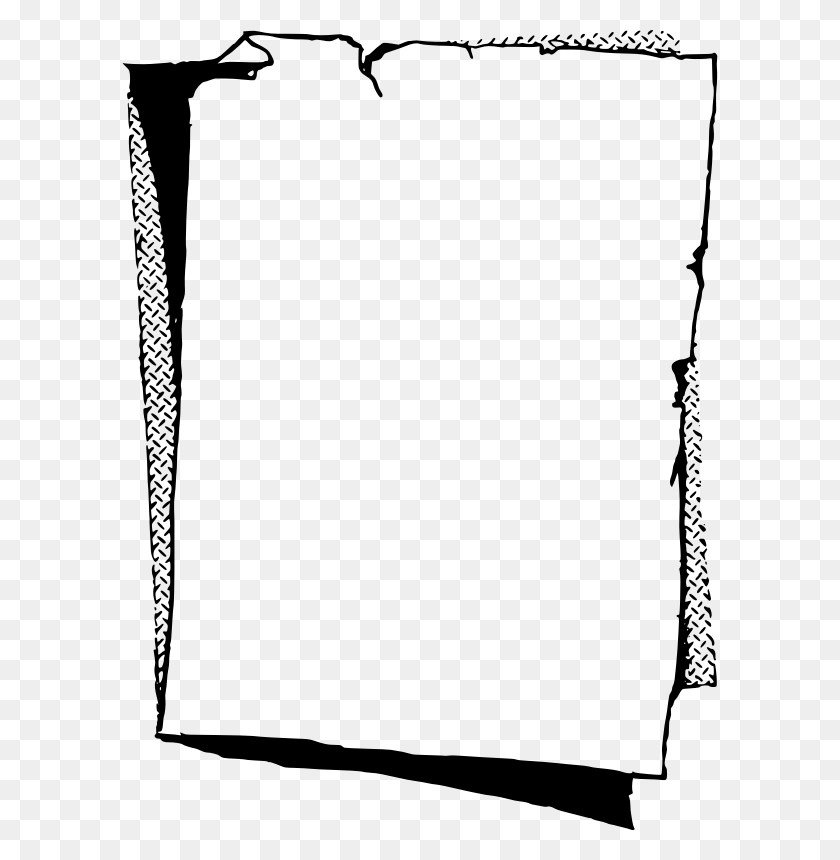 Download Paper Frame Clipart Paper Clip Art Paper, White, Black - Paper Clipart Black And White