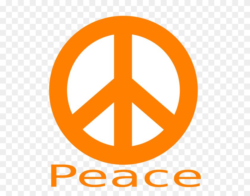 Download Peace Sign Orange Clipart Peace Symbols Clip Art Orange - Peace Sign Clip Art