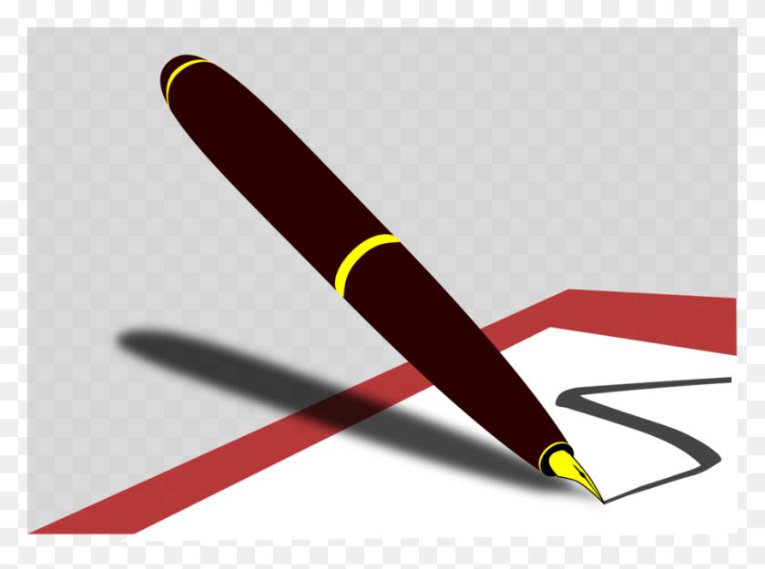 Download Pen Clipart Pens Fountain Pen Clip Art Pen, Line, Font - Quill Pen Clipart