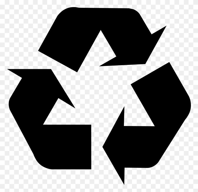Download Recycling Symbol - Scrap Paper Clipart