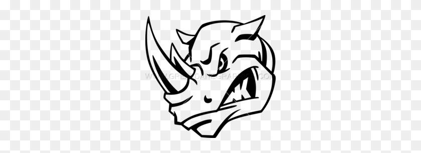 Download Rhino Head Black And White Clipart Rhinoceros Drawing