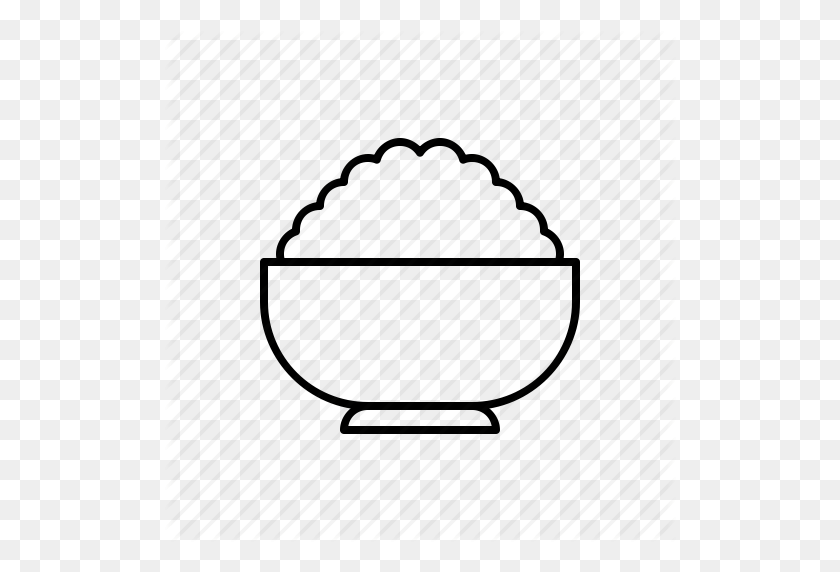 Download Rice Outline Icon Clipart Fried Rice Computer Icons - Rice Bowl Clipart