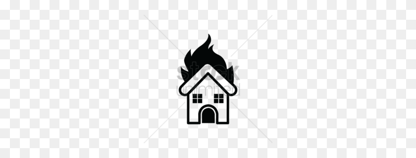 Download Silhouette Burning House Clipart House Clip Art - House Clipart Transparent