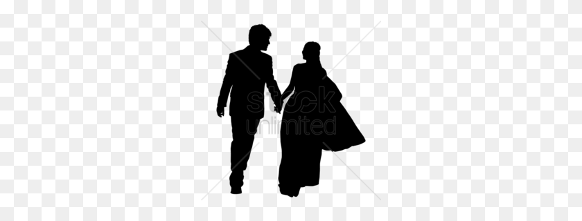Download Silhouette Wedding Couple Clipart Wedding Invitation Clip Art - Wedding Invitation Clip Art