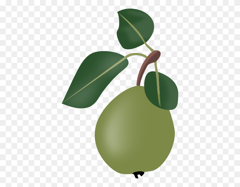 Download Stew Pear With Leafs Clipart - Pear Tree Clipart
