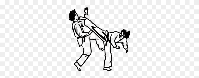 Download Taekwondo Clip Art Clipart Taekwondo Martial Arts Clip - Soccer Clipart Black And White