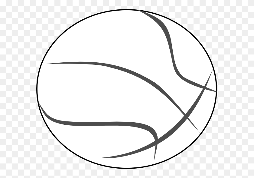 Download Vector About Basketball Outline Item Vector - Volleyball Ball Clipart