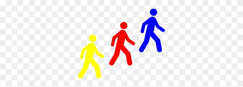 Download Walking Man Colors Clipart - Kids Walking PNG