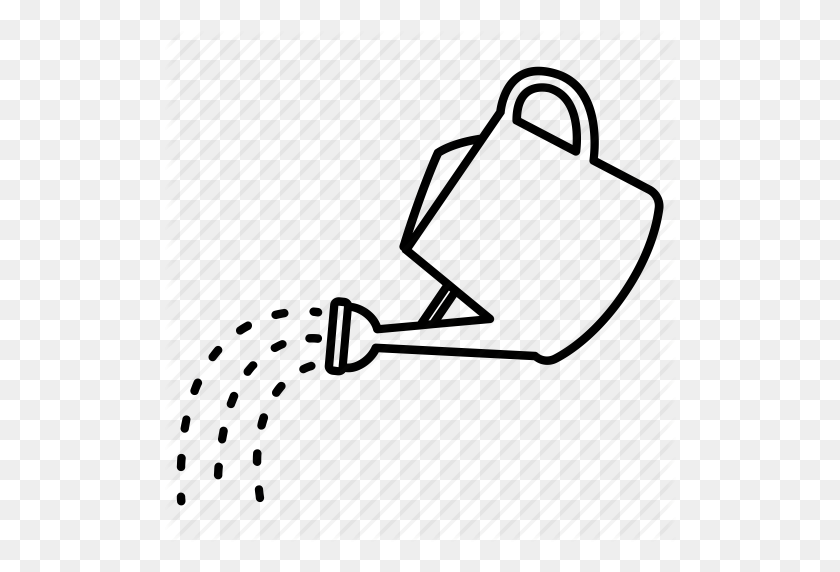 Download Watering Pot Black And White Clipart Watering Cans - Watering Can Clipart