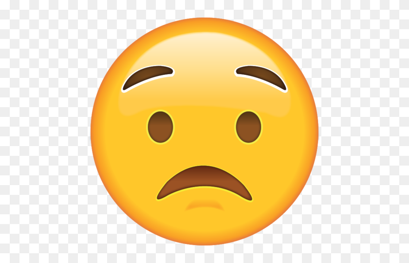 Download Worried Face Emoji Emoji Island - Worried Emoji PNG