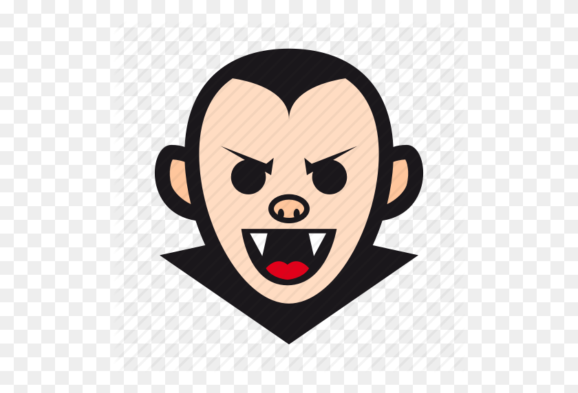 512x512 Dracula, Halloween, Monster, Undead, Vampire Icon - Monster Mouth PNG