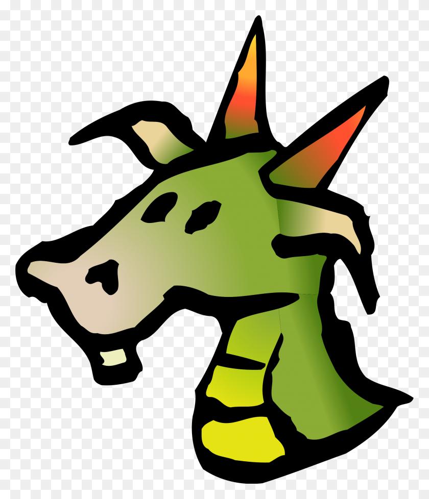 Dragon Head Drawing Clip Art - Dragon Head Clipart