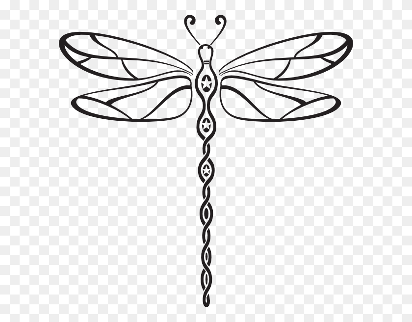 Dragonfly Clip Art Dragonfly Tribal Style Clip Art - Dragonfly Clipart Images
