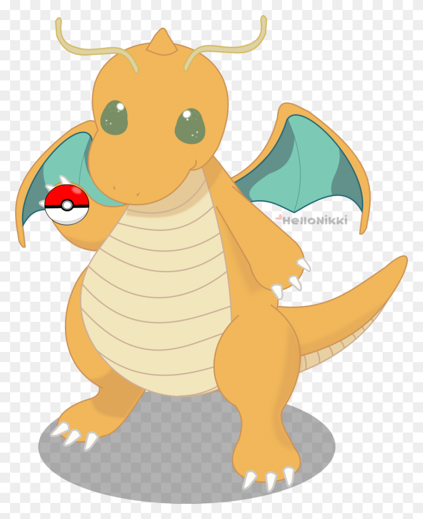 Dragonite Chibi - Dragonite PNG